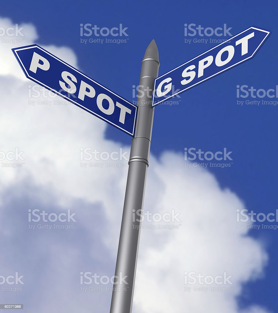 G and P spot sign royalty-free stock photo