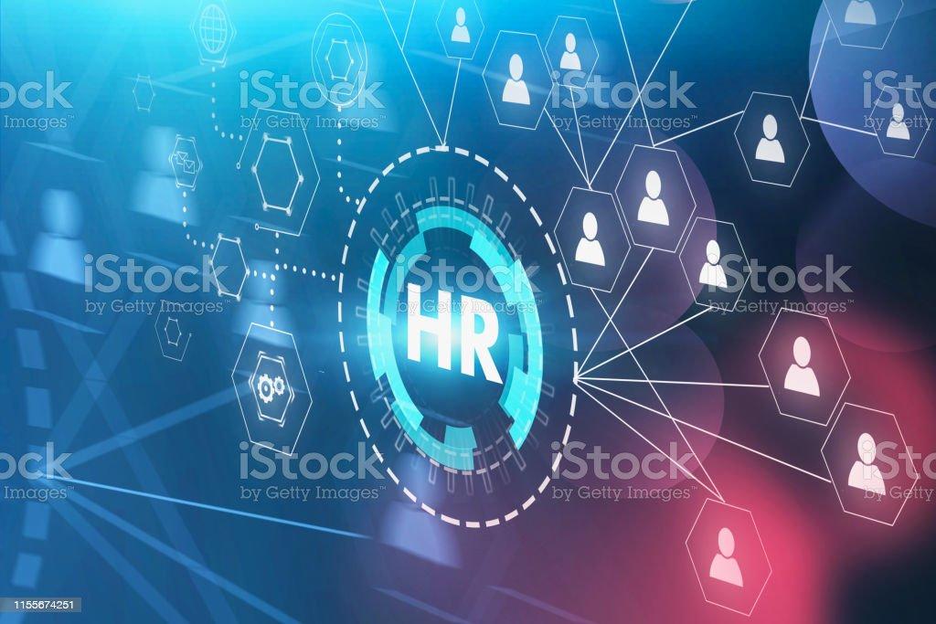 HR en People netwerk interface - Royalty-free Bedrijfsleven Stockfoto