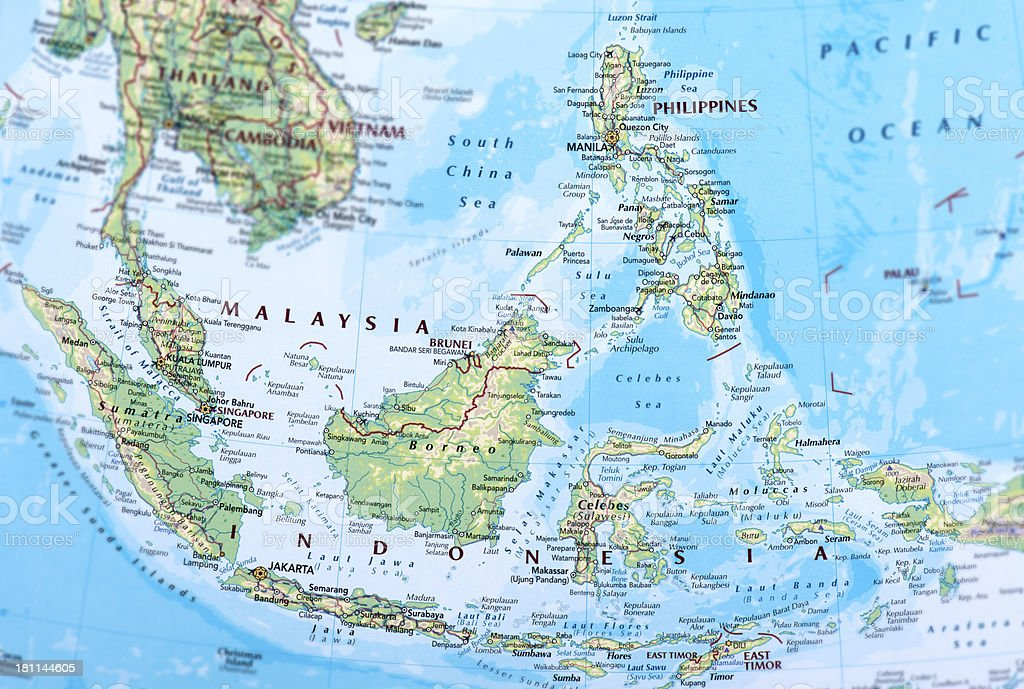 MALAYSIA, INDONESIA and PHILIPPINES royalty-free stock photo