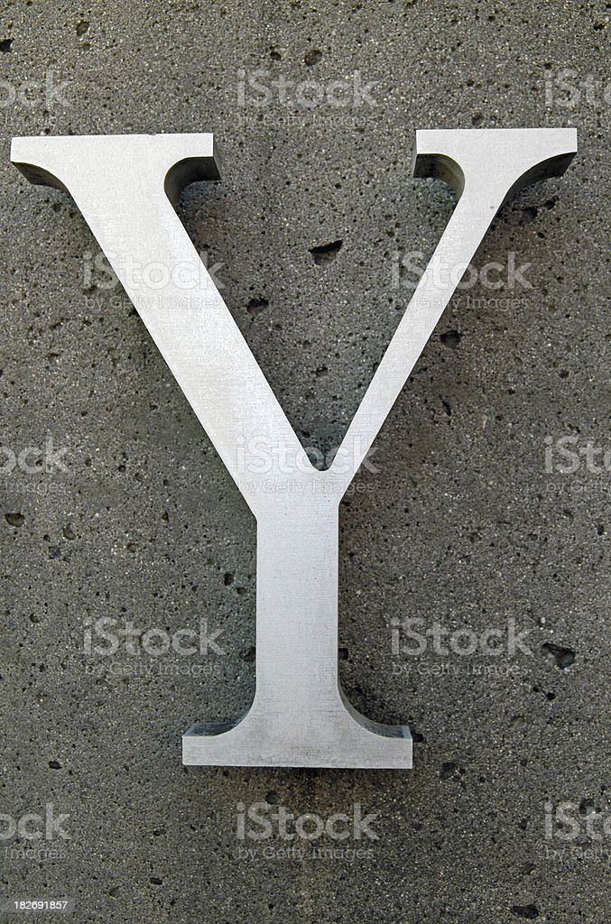 Y royalty-free stock photo