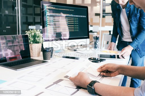 istock UX UI and Programming development technology. 1050561910