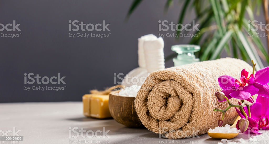 SPA and relaxation concept - space for text stock photo