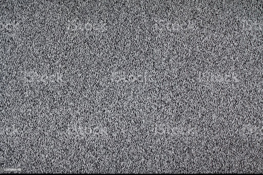 TV and remote control. White noise. Searching, installing or checking...