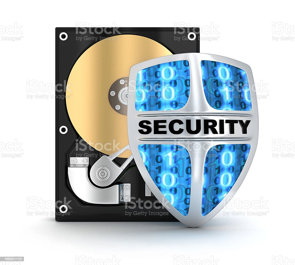 HDD and security royalty-free stock photo