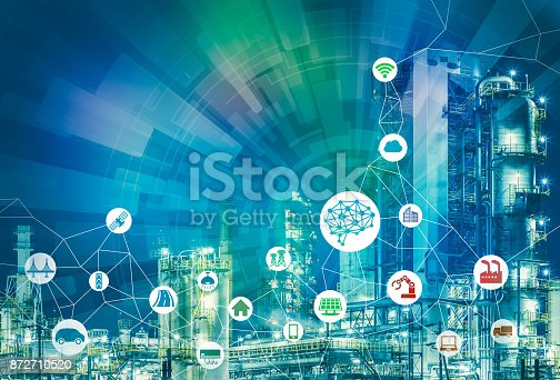 istock AI(Artificial Intelligence) and smart factory. Abstract mixed media. 872710520