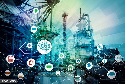 istock AI(Artificial Intelligence) and smart factory. Abstract mixed media. 872710530
