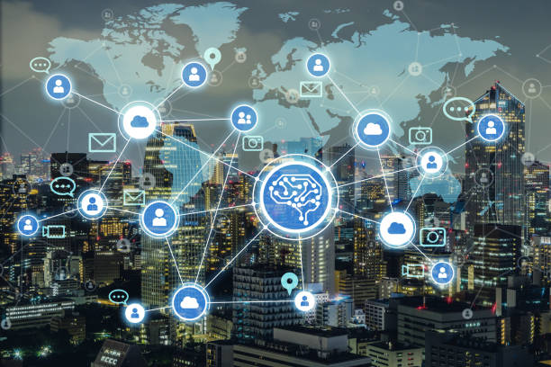 ai(artificial intelligence) and social media. - social issues stock photos and pictures