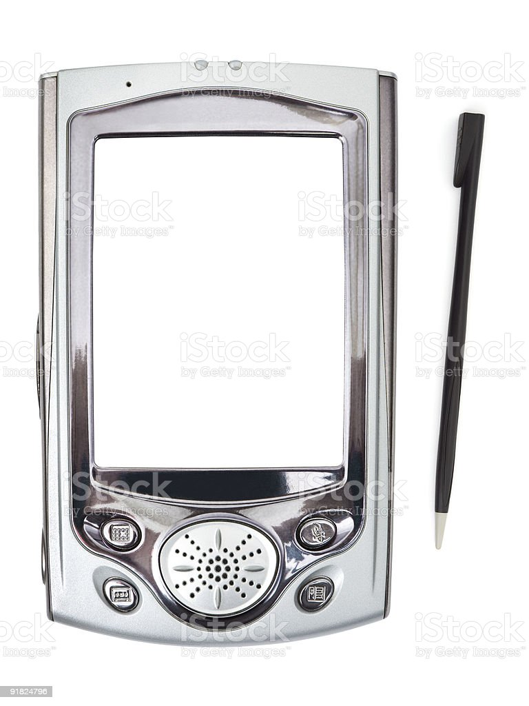 PDA and stylus royalty-free stock photo