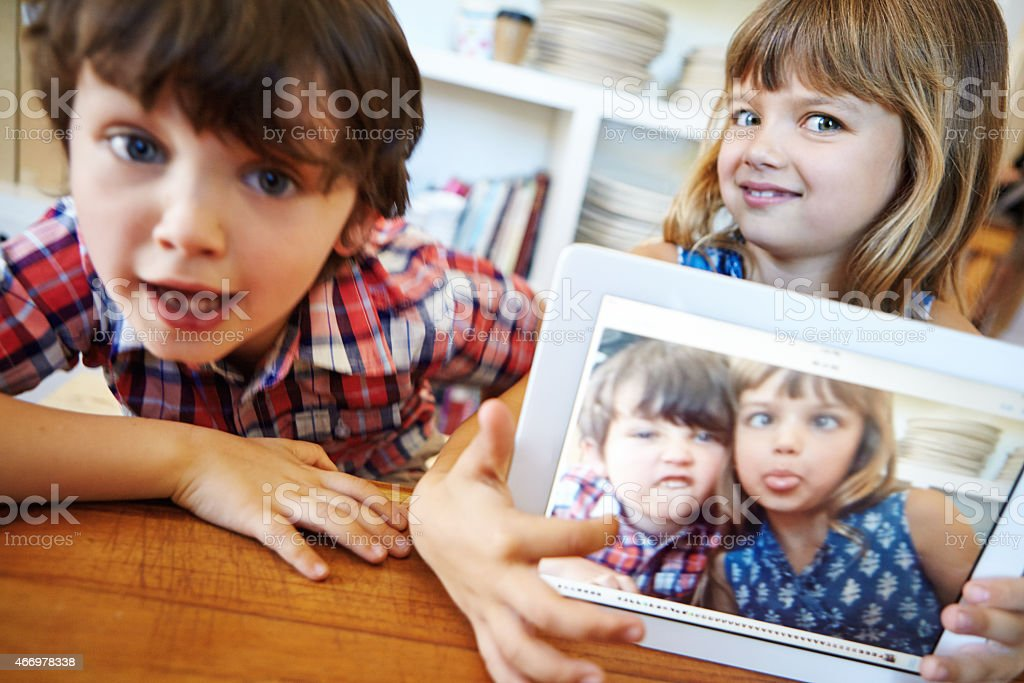 And that's how you take a selfie royalty-free stock photo
