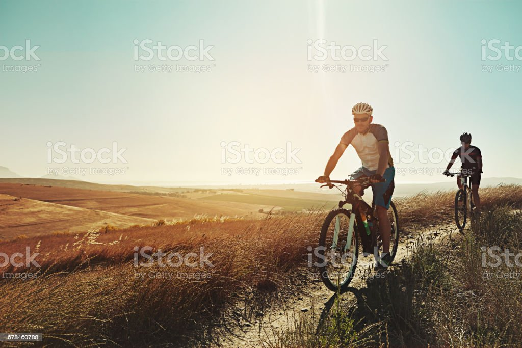 And that's when we discovered our love for mountain biking royalty-free stock photo