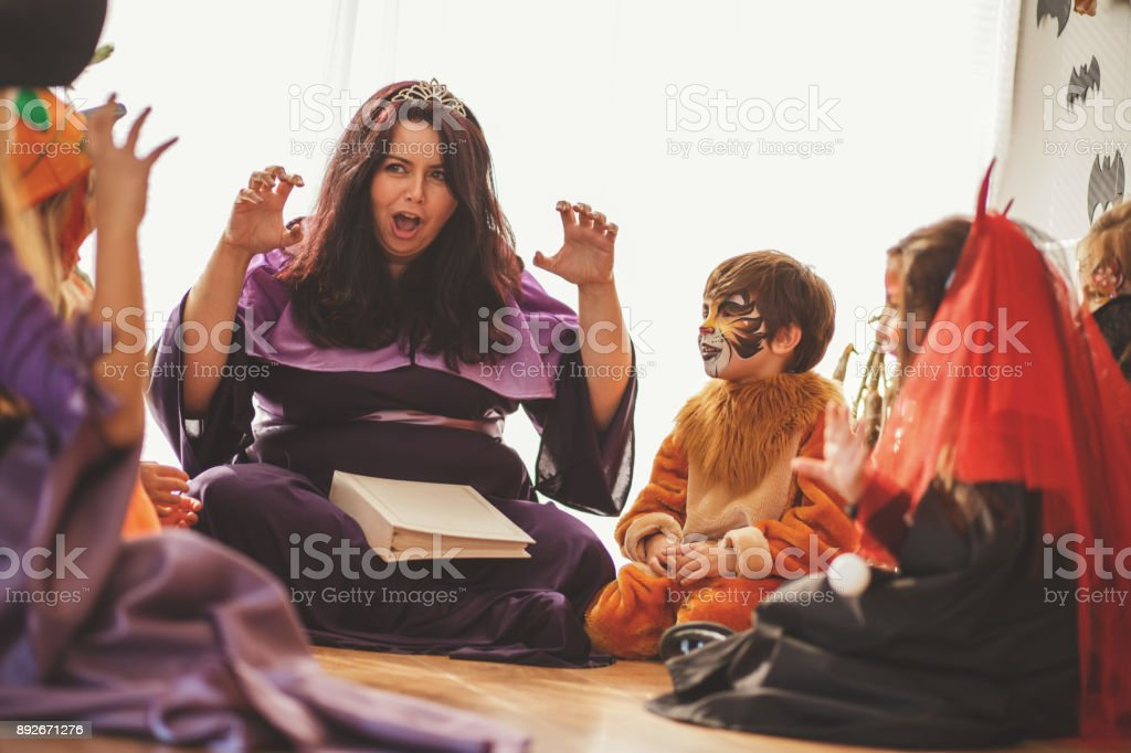 And then comes the scary creature... stock photo