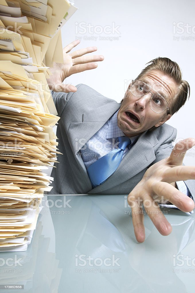 And They All Came Tumbling Down stock photo