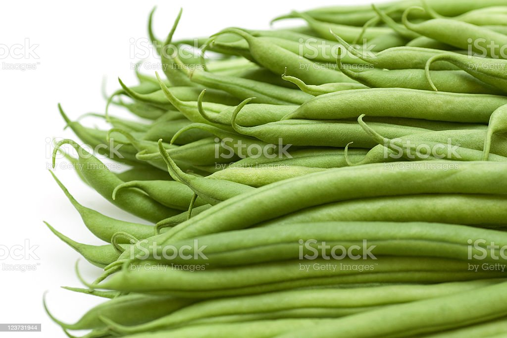 And up close image of whole green beans royalty-free stock photo