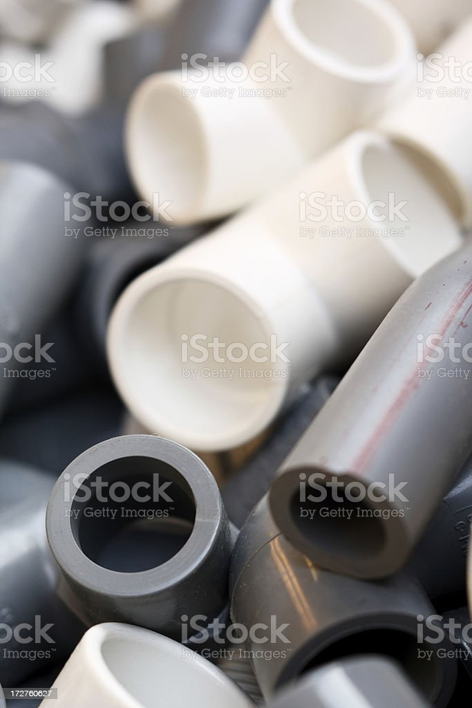 C-PVC and U-PVC Fittings royalty-free stock photo