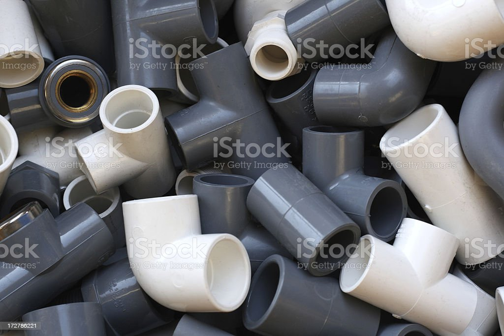 C-PVC and U-PVC Fittings stock photo