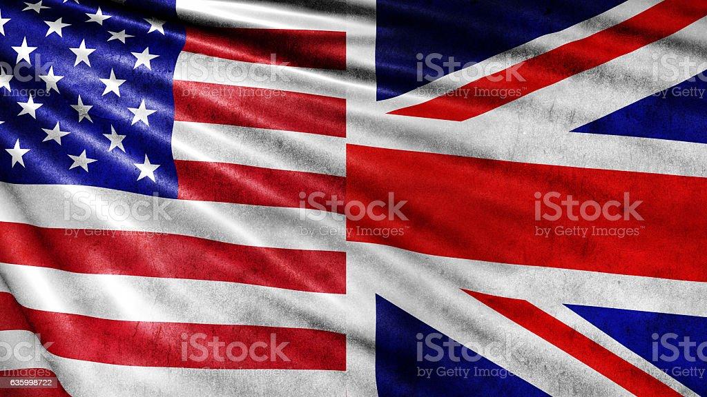 UK and USA foto de stock libre de derechos