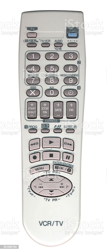 TV and VCR remote control royalty-free stock photo