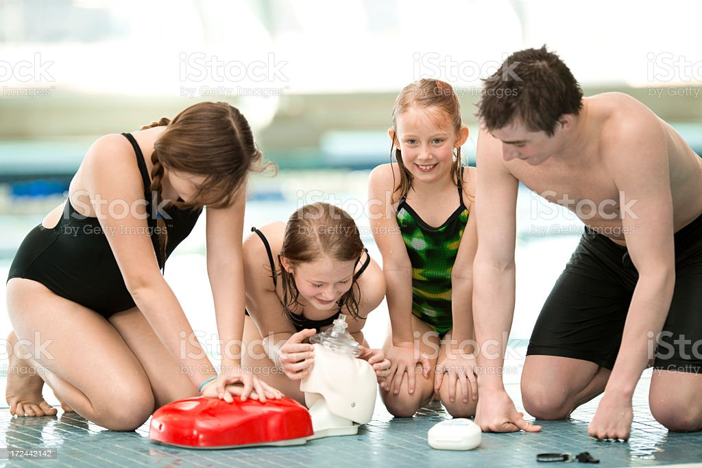 CPR and Water Safety royalty-free stock photo