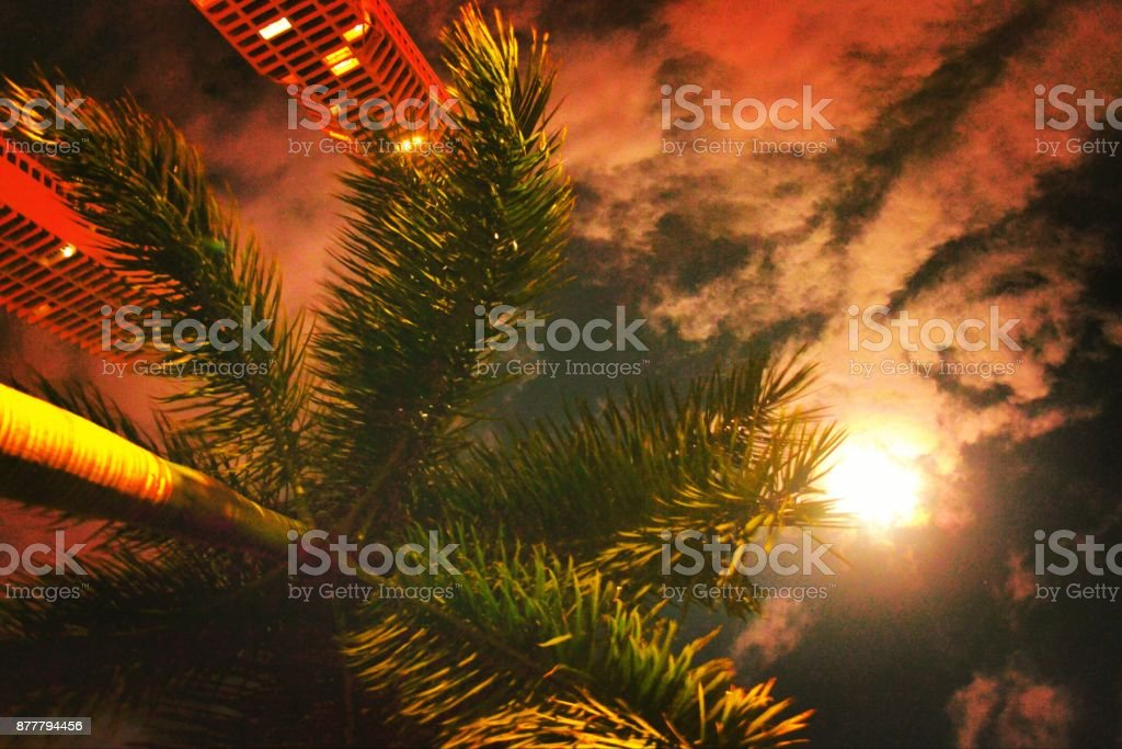 ¿and you do what you do not look at the sky ? stock photo