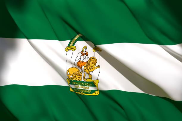 アンダルシアコミュニティフラグ - アンダルシア州 ストックフォトと画像