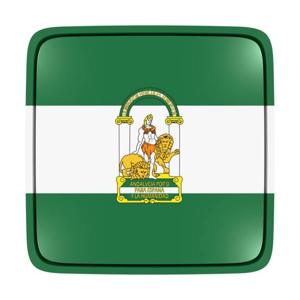 icono de la bandera de andalucía - andalusian flag fotografías e imágenes de stock