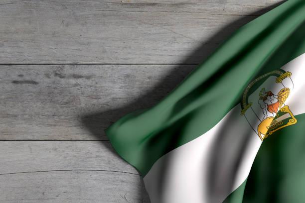 アンダルシア州旗を振って - アンダルシア州 ストックフォトと画像