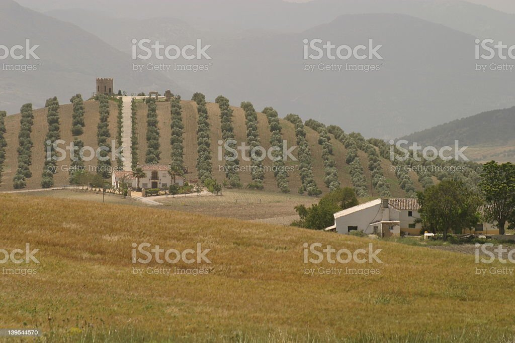 Andalucian Farmland stock photo