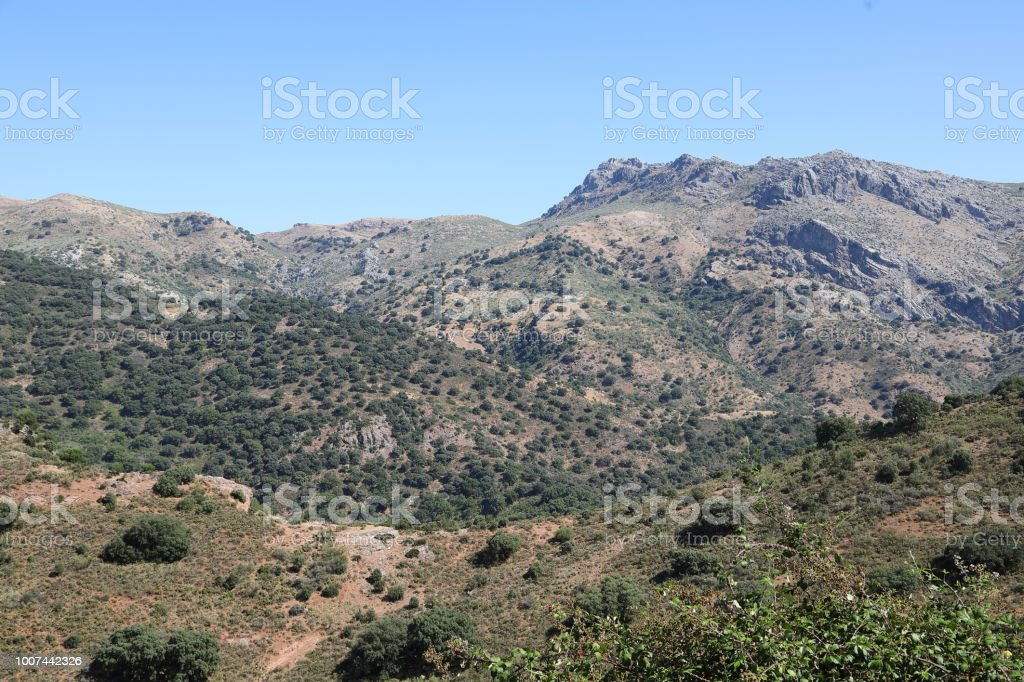Andalusia, Spain landscape near Ronda stock photo