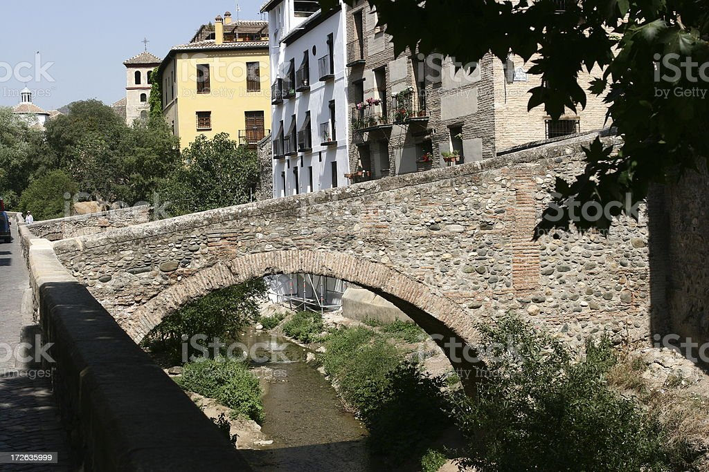 Andalusia, Spain rural scene with old stoned bridge royalty-free stock photo
