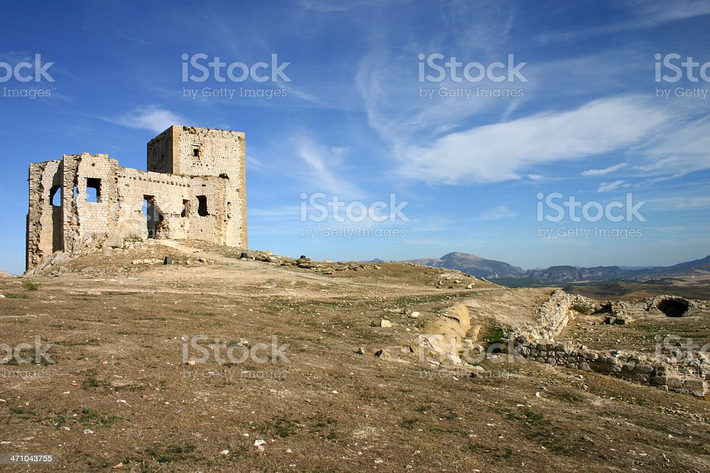 Andalusian castle stock photo