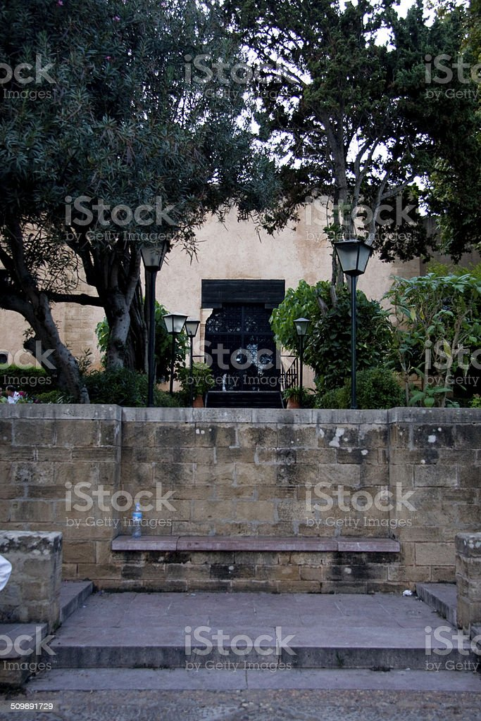 Andalusian Garden in the Kasbah of the Udayas, Rabat stock photo