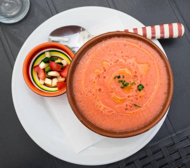 Andalusian gazpacho. stock photo