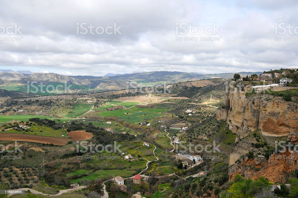 Andalusian landscape in Ronda royalty-free stock photo