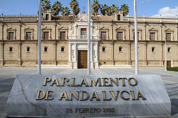 le parlement andalou - andalousie photos et images de collection