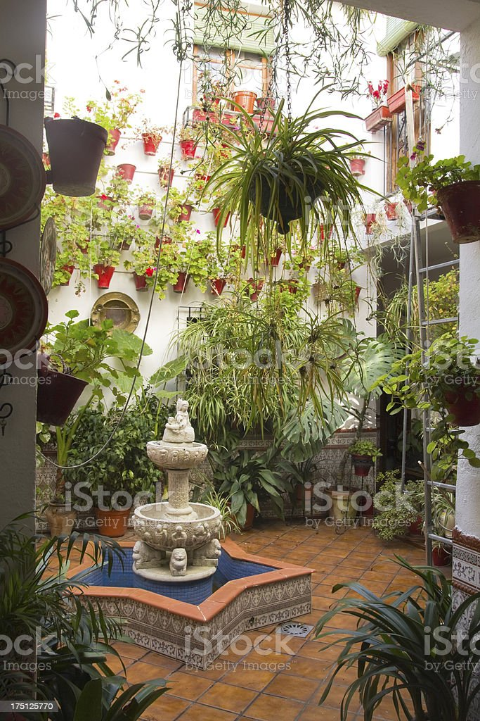 Andalusian Patio stock photo