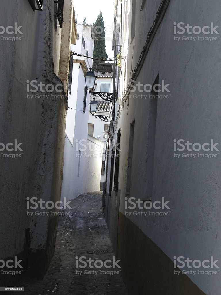 andalusian straight street royalty-free stock photo