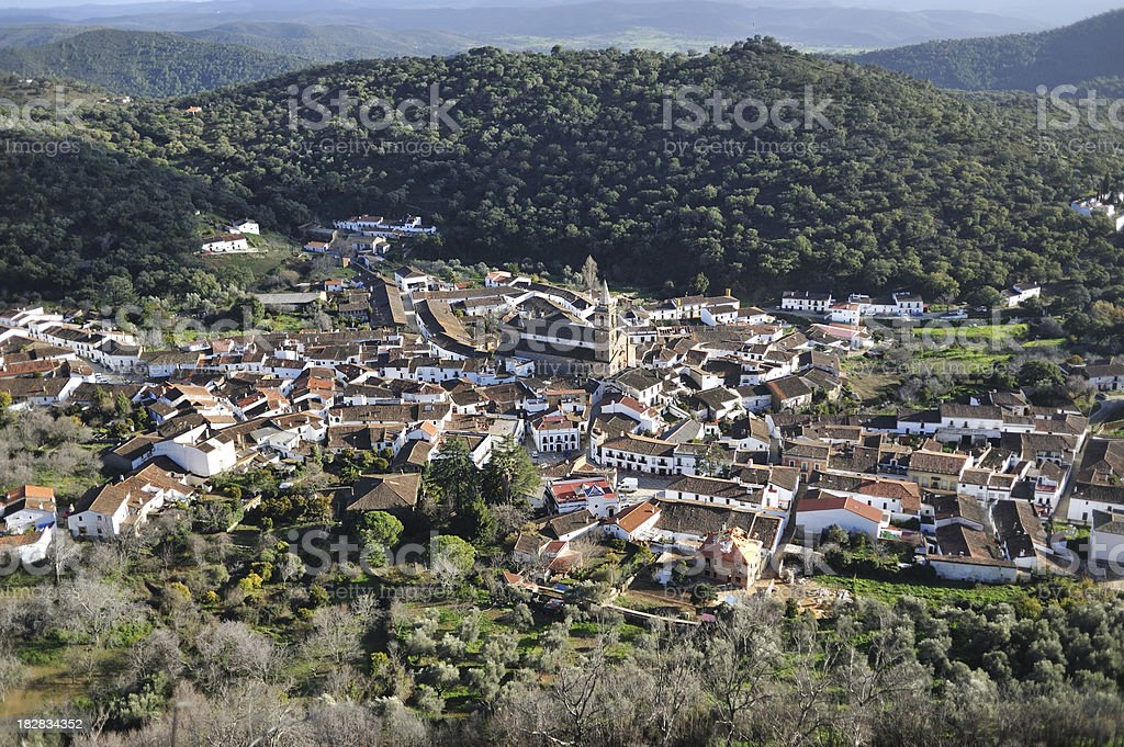 Andalusian village in the hills stock photo