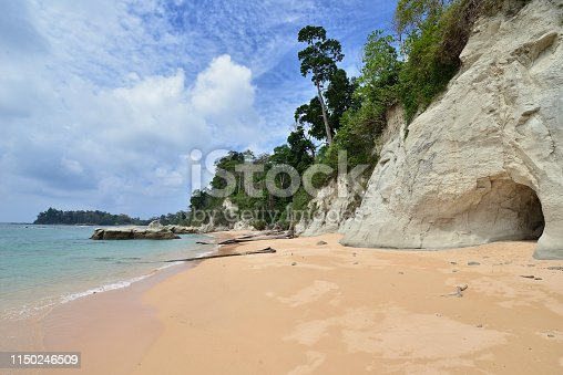Beach on Andaman at Neil Island of the Andaman and Nicobar Islands, India