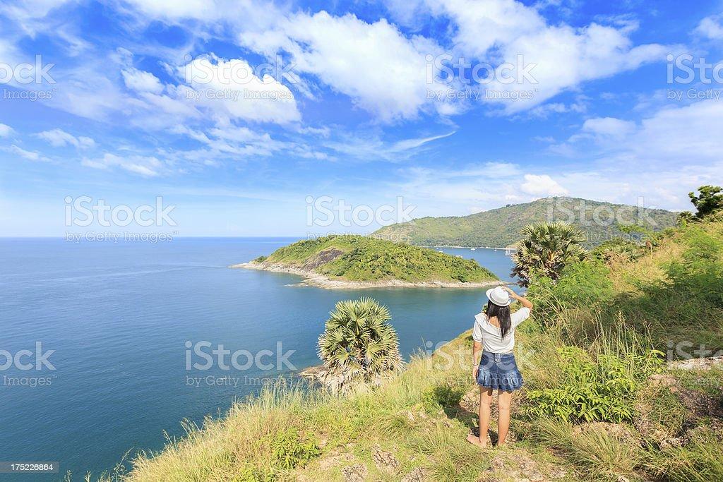 Andaman Sea, Cape Promthep, Phuket, Thailand royalty-free stock photo