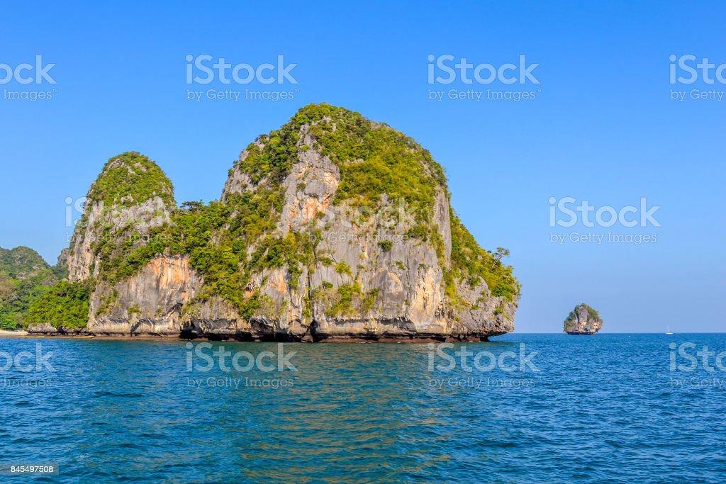 Andaman sea near Krabi coast in southern Thailand stock photo