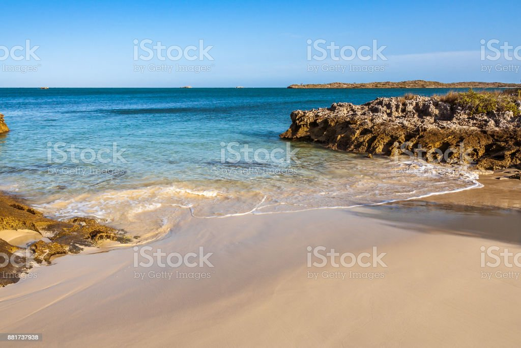 Andavadoaka wild beach stock photo