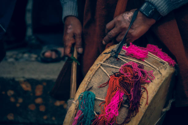 andean drum stock photo