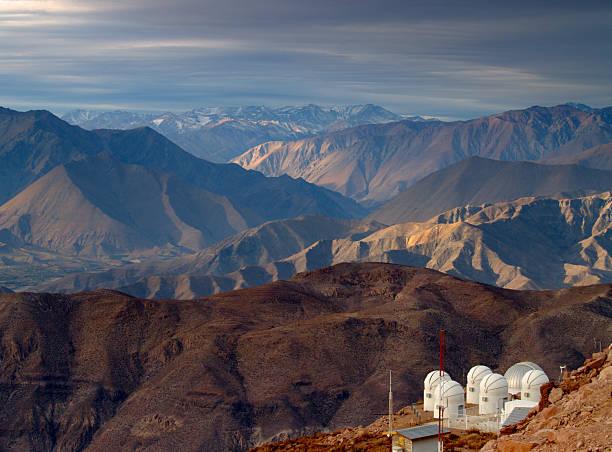 アンデス天文台 elqui 渓谷を一望する、チリ - 観測所 ストックフォトと画像