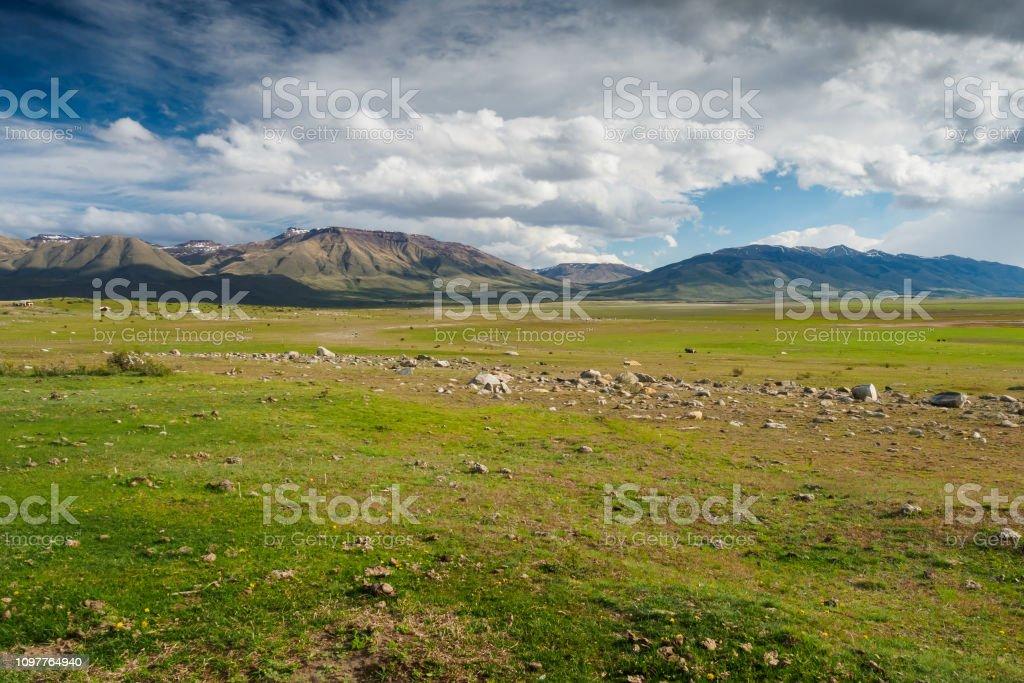 Andean plains stock photo