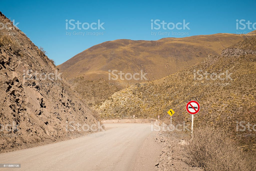 Andean road stock photo