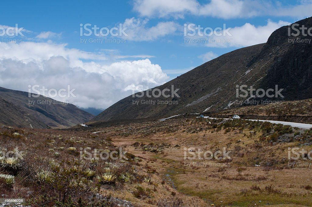 Andean wilderness stock photo