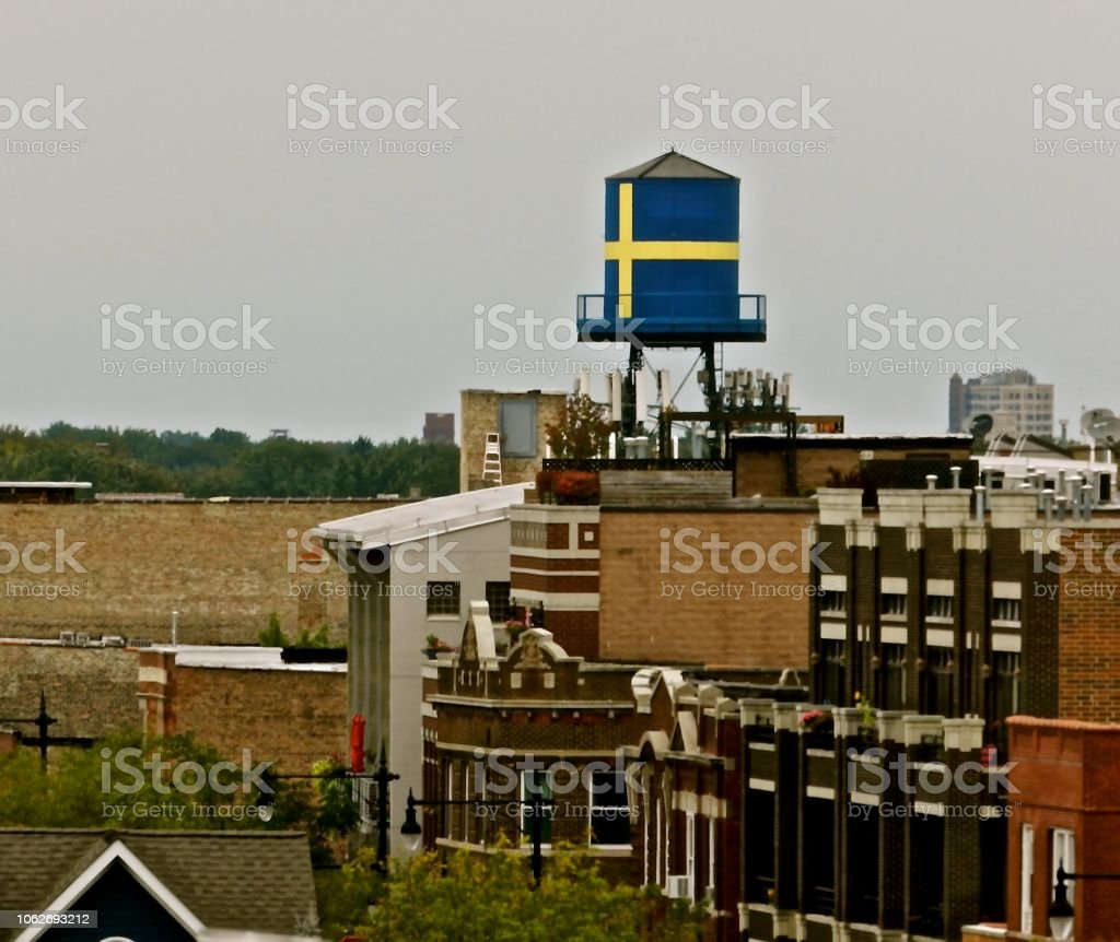Andersonville Water Tower stock photo