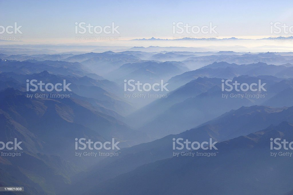 Andes from above royalty-free stock photo