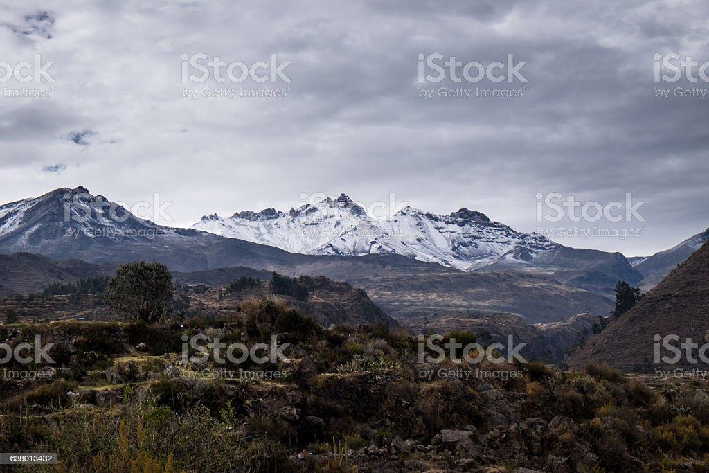 Andes Landscape, Salkantay Trail, Perù stock photo