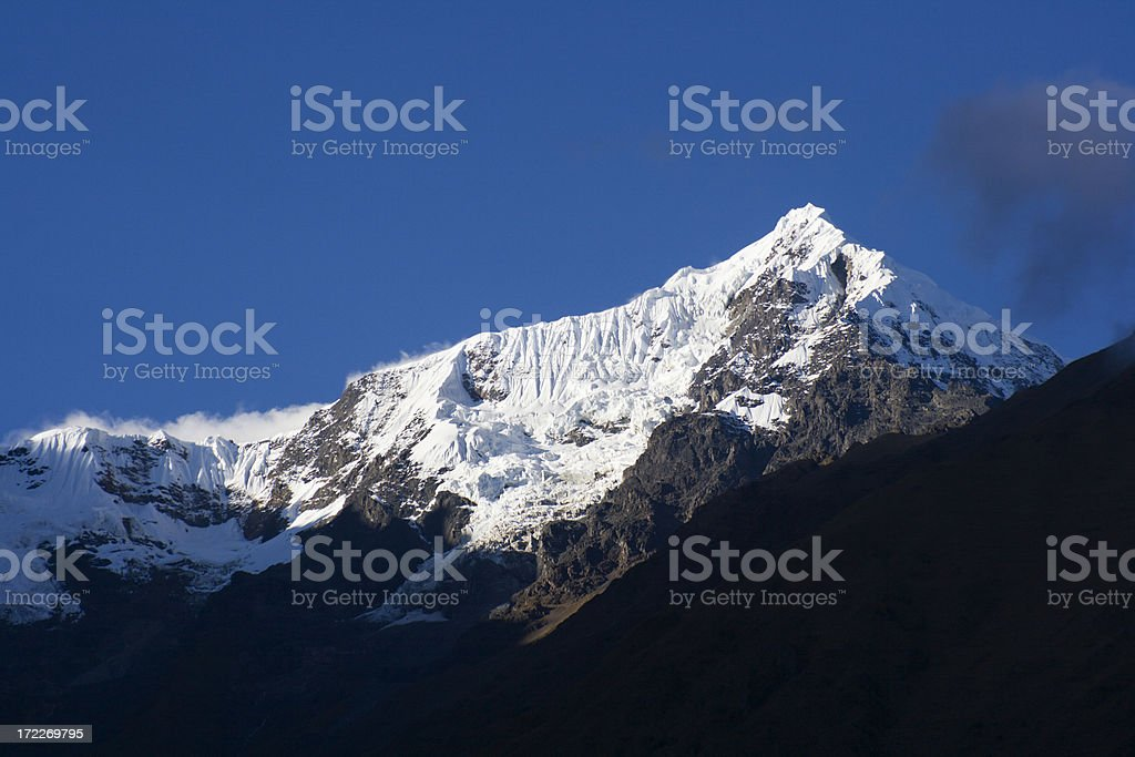 Andes Mountain Range Peak, Snow-capped Summit, Peru, South America royalty-free stock photo